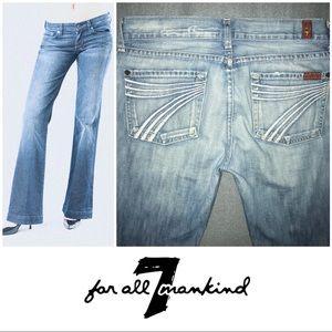 7 For All Mankind Light Dojo Wide Leg Jeans 8 29